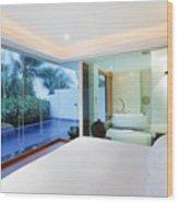 Luxury Bedroom Wood Print
