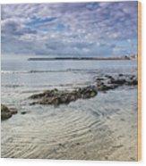 Lyme Regis Seascape - October Wood Print