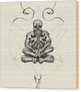 Macabre Meditation Wood Print