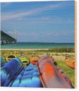 Mackinac Bridge 2241 Wood Print