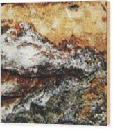 Macro Rock Wood Print