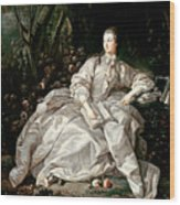 Madame De Pompadour Wood Print by Francois Boucher
