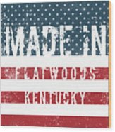 Made In Flatwoods, Kentucky Wood Print