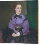 Mademoiselle Sicot Wood Print