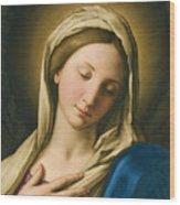Madonna At Prayer Wood Print