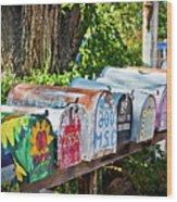 Madrid Mailboxes Wood Print