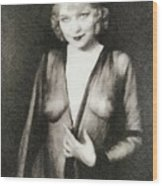 Mae West, Vintage Actress Wood Print