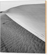 Magnificent Sandy Waves On Dunes At Sunny Day Wood Print