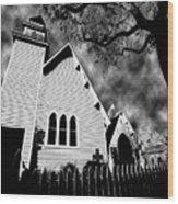 Magnolia Springs Alabama Church Wood Print