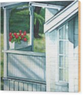 Maine Porches Number One Wood Print