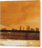 Majestic Skyline Wood Print