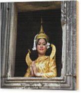 Makala Dancer In Cambodia Wood Print
