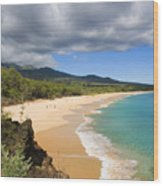 Makena Beach Wood Print