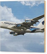 Malaysia Airlines Airbus A380 Wood Print