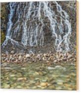 Cascades Of Maligne Canyon Wood Print