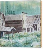Mammoth Ghost Town Montana Wood Print