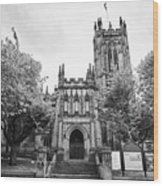 Manchester Cathedral Uk Wood Print