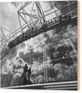 Manchester United Old Trafford Stadium Uk Wood Print
