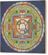 Mandala Of Avalokiteshvara           Wood Print