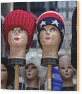 Mannequin Heads Wood Print