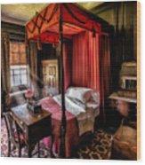 Mansion Bedroom Wood Print