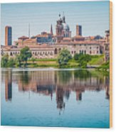 Mantua Skyline Wood Print