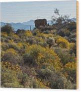 Marcus Landslide In Bloom Wood Print