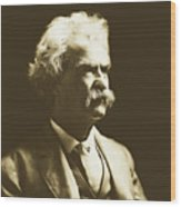 Mark Twain Wood Print