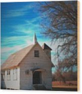Marsh Berea Church Wood Print