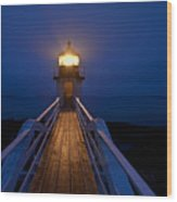 Marshall Point Light Station Wood Print