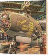 Martin B-26g, Marauder, Shootin In Wood Print