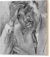 Martin Luther King Jr Wood Print