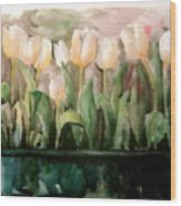 Marty's Tulips Wood Print