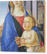 Mary With Baby Jesus Wood Print