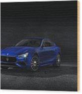 Maserati Ghibli Wood Print