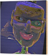 Mask 16 Wood Print