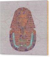 Mask Of Tutankhamun, Pop Art By Mb Wood Print