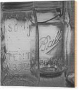 Mason Jar 1858  Wood Print