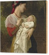 Maternal Admiration Wood Print