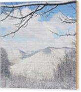 Mcguire Mountain Overlook Wood Print