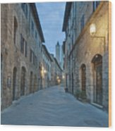 Medieval Street Wood Print by Rob Tilley
