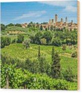 Medieval Town Of San Gimignano, Tuscany, Italy Wood Print