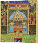 Meditating Master In Courtyard With Ducks Wood Print
