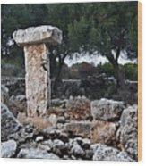 Megalithic Taula In Binisafua Menorca Bronze Age Wood Print