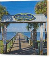 Melbourne Beach Florida Wood Print