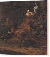 Melchior De Hondecoeter In The Manner Of The Artist, Wild Birds In A Park Landscape. Wood Print