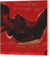 Mermaid Of The Red Sea Wood Print