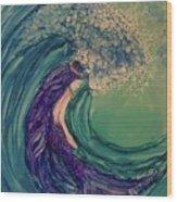 Mermaid Wave Wood Print