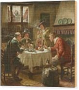 Merry Company In A Dutch Interior Wood Print