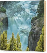 Mesa Falls - Yellowstone Wood Print